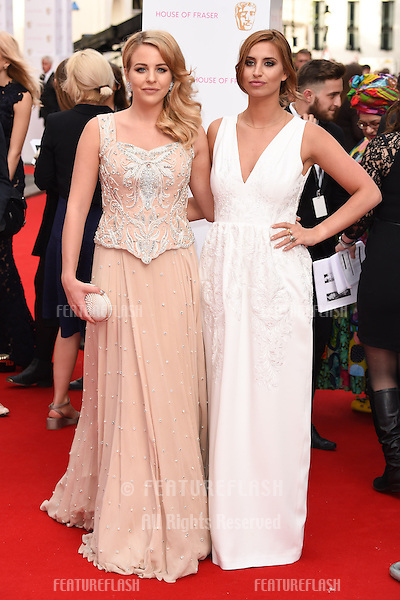 Lydia Bright and Fern McCann<br /> arrives for the 2015 BAFTA TV Awards at the Theatre Royal, Drury Lane, London. 10/05/2015 Picture by: Steve Vas / Featureflash