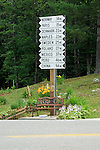 Road sign in Albany, Maine, USA