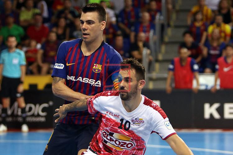 League LNFS 2018/2019.<br /> Play Off. Game: 5.<br /> FC Barcelona Lassa vs El Pozo Murcia: 3-2.<br /> Sergio Lozano vs Alex.