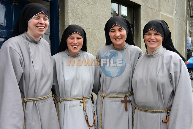 Fanciscan Sisters of the Renewal (from left) Sr. Kelly Francis, Sr. Jacinta, Sr. Monica, Sr. Veronica.