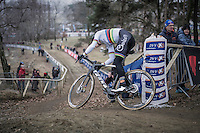 CX World Champion Wout Van Aert (BEL/Crelan-Willems) racing on a new bike (& in a new team) for the first time<br /> <br /> elite men's race<br /> GP Sven Nys 2017