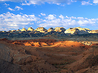 Art in Nature 9609-0181 - Cloudy landscape of of Notom Desert in southern Utah. Utah.
