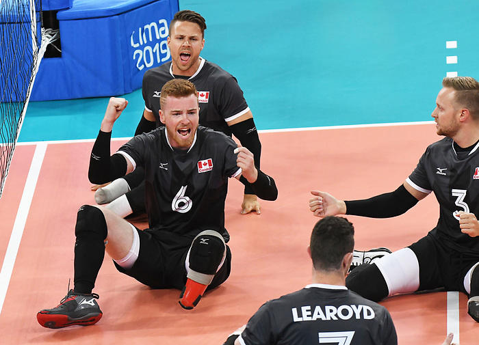 Bryce Foster, Austin Hinchey, and Jesse Ward, Lima 2019 - Sitting Volleyball // Volleyball assis.<br />