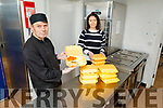 James Lee and Joanne Leen of Ballyheigue Community Centre preparing meals for meals on wheels in the Ballyheigue, Kilmoyley, Causeway and Ardfert Area on Monday.