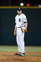 Winston-Salem Dash relief pitcher McKinley Moore (36) looks to his catcher for the sign against the Bowling Green Hot Rods at Truist Stadium on September 7, 2021 in Winston-Salem, North Carolina. (Brian Westerholt/Four Seam Images)