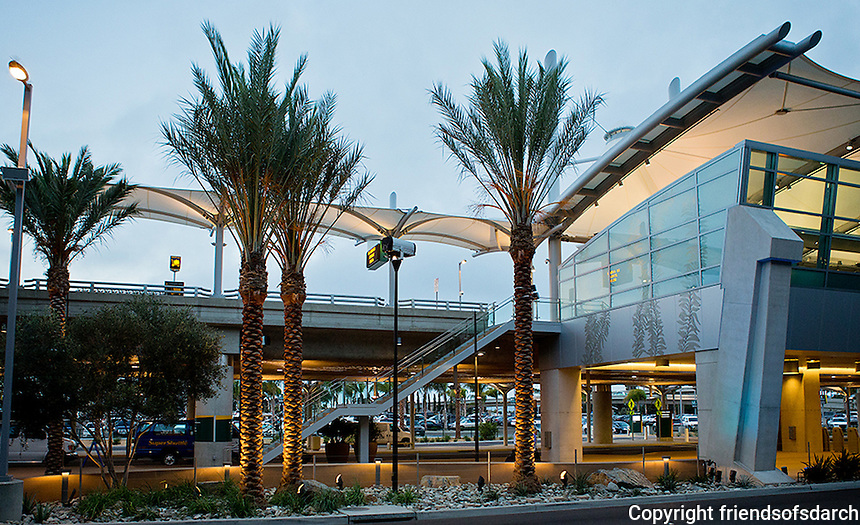 """San Diego International Airport, Terminal 2 """"Green Build"""", 2014--a contemporary look with sustainable landscaping. Patricia Trauth, Landscape Architect. Photo by John Livzey."""