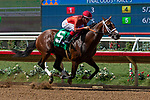 DEL MAR, CA  AUGUST 25:   #5 Tatters to Riches, ridden by Tyler Baze, wins the Shared Belief Stakes, on August 25, 2018 at Del Mar Thoroughbred Club in Del Mar, CA.(Photo by Casey Phillips/Eclipse Sportswire/Getty ImagesGetty Images