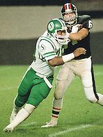 Vince Goldsmith Saskatchewan Roughriders defensive lineman 1983. Copyright photograph Scott Grant