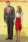 Spain's crown Prince Felipe and Princess Letizia during a ceremony to designate Spain Brand ambassadors. February 12, 2013. (ALTERPHOTOS/Alvaro Hernandez)