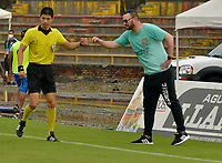 VILLAVICENCIO - COLOMBIA, 05-08-2021: Llaneros F. C. y Boyaca Chico F. C. durante partido de vuelta de la fase III Copa BetPlay DIMAYOR 2021 en el estadio Bello Horizonte de la ciudad Villavicencio. / Llaneros F. C. and Boyaca Chico F. C. during the match of the second leg of phase III BetPlay DIMAYOR 2021 Cup at the Belo Horizonte stadium in Monteria city. / Photo: VizzorImage / Juan Herrera / Cont.