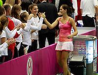 Bojana Jovanovski Fed Cup Serbia vs Canada, World group II, first round, Novi Sad, Serbia, SPENS Sports Center, Saturday, February 05, 2011. (credit & photo: Pedja Milosavljevic / +381641260959 / thepedja@gmail.com / STARSPORT)