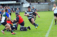 Action from the Swindale Shield Wellington premier men's club rugby union match between Oriental-Rongotai and Old Boys University at Polo Ground in Wellington, New Zealand on Saturday, 12 September 2020. Photo: Dave Lintott / lintottphoto.co.nz