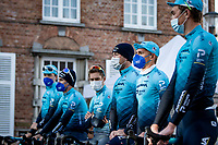 team Astana at the race start in Ypres<br /> <br /> 83rd Gent-Wevelgem - in Flanders Fields (ME - 1.UWT)<br /> 1 day race from Ieper to Wevelgem (BEL): 254km<br /> <br /> ©kramon