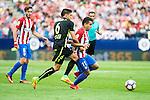 Atletico de Madrid's player Ángel Martín Correa and Saúl Ñígez and Sporting de Gijon's Sergio A. during a match of La Liga Santander at Vicente Calderon Stadium in Madrid. September 17, Spain. 2016. (ALTERPHOTOS/BorjaB.Hojas)