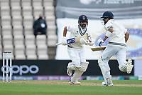 Ajinkya Rahane, India and Virat Kohli, India collect more runs during India vs New Zealand, ICC World Test Championship Final Cricket at The Hampshire Bowl on 19th June 2021