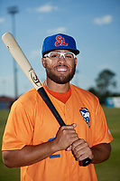 St. Lucie Mets Desmond Lindsay (2) poses for a photo before a game against the Florida Fire Frogs on April 19, 2018 at Osceola County Stadium in Kissimmee, Florida.  St. Lucie defeated Florida 3-2.  (Mike Janes/Four Seam Images)