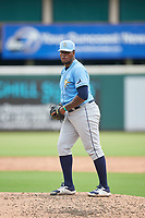 FCL Rays pitcher Aneudy Cortorreal (73) during a game against the FCL Pirates Gold on July 26, 2021 at LECOM Park in Bradenton, Florida. (Mike Janes/Four Seam Images)