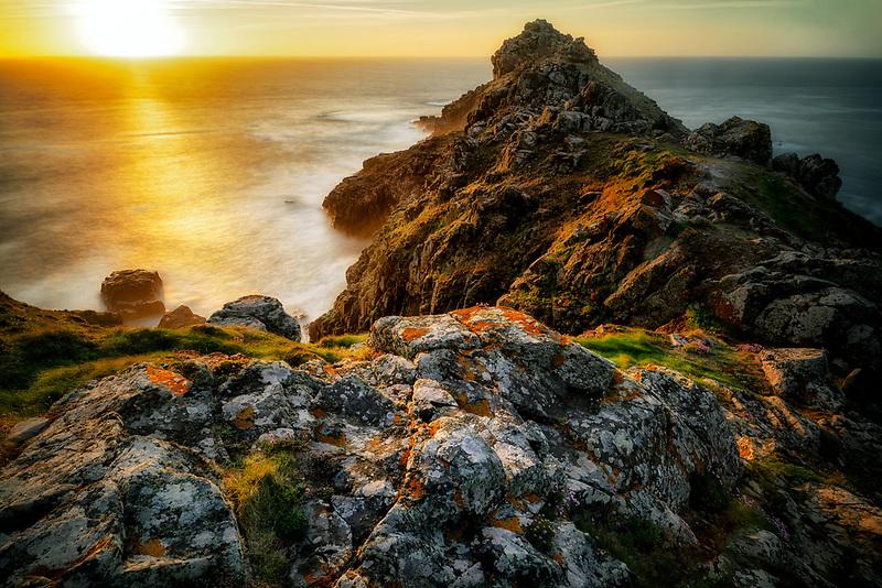 Sunset at Gurnard's Head. Cornwall, England.
