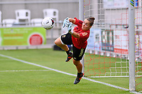Belgian goalkeeper Diede Lemey (12) pictured during warming up of a friendly female soccer game between the national teams of Luxemburg and Belgium , called the Red Flames  in a preparation towards the qualification for the  FIFA Women's World Cup , on saturday 12 th of June 2021  in Wiltz , Luxemburg . PHOTO SPORTPIX BE   SPP   DAVID CATRY