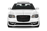 Car photography straight front view of a 2021 Chrysler 300 S 4 Door Sedan Front View