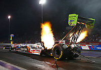 Apr 21, 2017; Baytown, TX, USA; NHRA top fuel driver Clay Millican during qualifying for the Springnationals at Royal Purple Raceway. Mandatory Credit: Mark J. Rebilas-USA TODAY Sports