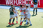 Mannheim, Germany, May 09: During the 1. Bundesliga men fieldhockey gold medal match between Rot-Weiss Koeln and Uhlenhorst Muelheim on May 9, 2021 at Am Neckarkanal in Mannheim, Germany. (Copyright Dirk Markgraf / www.265-images.com) ***