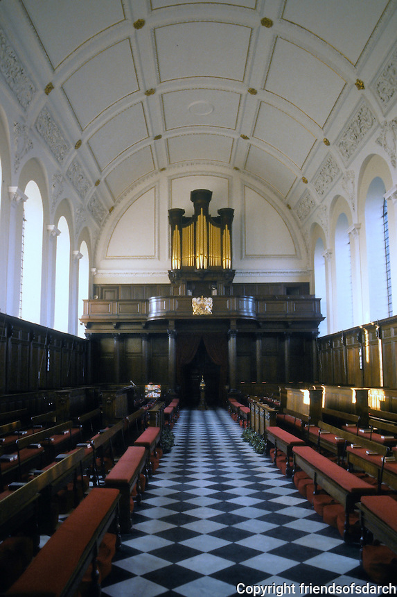 Sir Christopher Wren: Royal Hospital Chelsea. Rear of Chapel.