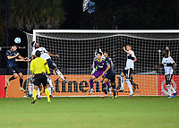 LAKE BUENA VISTA, FL - JULY 26: Ilie Sánchez of Sporting KC has his header challenged by Derek Cornelius of Vancouver Whitecaps FC during a game between Vancouver Whitecaps and Sporting Kansas City at ESPN Wide World of Sports on July 26, 2020 in Lake Buena Vista, Florida.