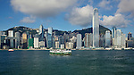Central, Hong Kong Island From Tsim Sha Tsui, Kowloon.  The Peak Is Just Visible To The Right Of The IFC2 Tower.