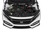 Car Stock 2020 Honda Civic-Hatchback Sport-Touring 5 Door Hatchback Engine  high angle detail view