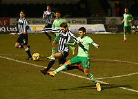 10th February 2021; St Mirren Park, Paisley, Renfrewshire, Scotland; Scottish Premiership Football, St Mirren versus Celtic; Marcus Fraser of St Mirren beats Mohamed Elyounoussi of Celtic to the ball