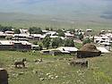 Armenia 2007 <br /> View from the graveyard on a Yezidi village   <br /> Armenie 2007  <br /> Vue du cimetiere sur un village yezidi