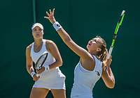 London, England, 5 th July, 2017, Tennis,  Wimbledon, Womens doubles: Lesley Kerkhove (NED) (R) / Lidziya Marozava (BLR)<br /> Photo: Henk Koster/tennisimages.com