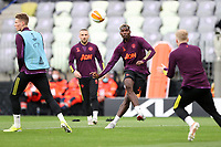 25th May 2021; Gdansk, Poland; Manchester United training at the Stadion Energa Gdańsk prior to their Europa League final versus Villarreal on May 26th;  PAUL POGBA