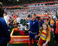 Fifa Women's World Cup Germany 2011 : France - Germany ( Frankrijk - Duitsland ) at Munchengladbach World Cup stadium : Louisa NECIB .foto DAVID CATRY / Vrouwenteam.be