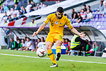 Aziz Behich of Australia in action during the AFC Asian Cup UAE 2019 Group B match between Australia (AUS) and Jordan (JOR) at Hazza Bin Zayed Stadium on 06 January 2019 in Al Ain, United Arab Emirates. Photo by Marcio Rodrigo Machado / Power Sport Images