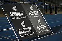 Scooore Super League banner pictured before a female soccer game between FC Femina White Star Woluwe and Eendracht Aalst on the sixth matchday of the 2020 - 2021 season of Belgian Scooore Womens Super League , friday 6 th of November 2020  in Woluwe , Belgium . PHOTO SPORTPIX.BE | SPP | SEVIL OKTEM