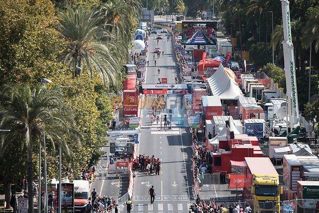 Magnus Cort Nielsen (DEN) EF Education-Nippo outsprints Andrea Bagioli (ITA) Deceuninck-Quick Step to win Stage 12 of La Vuelta d'Espana 2021, running 175km from Jaén to Córdoba, Spain. 26th August 2021.  <br /> Picture: Cxcling | Cyclefile<br /> <br /> All photos usage must carry mandatory copyright credit (© Cyclefile | Cxcling)