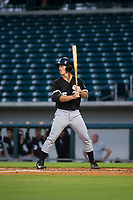 AZL White Sox right fielder JJ Muno (15) at bat against the AZL Cubs on August 13, 2017 at Sloan Park in Mesa, Arizona. AZL White Sox defeated the AZL Cubs 7-4. (Zachary Lucy/Four Seam Images)