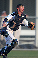 West Boca Raton Bulls catcher Mike Barash #22 during a game for the Sarasota Classic Tournament at Buck O'Neil Complex in Sarasota, Florida;  March 14, 2011.  Photo By Mike Janes/Four Seam Images