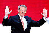 New York, NY - September 2, 2004 --  General Tommy Franks speaks at the 2004 Republican Convention in Madison Square Garden in New York on September 2, 2004..Credit: Ron Sachs / CNP.(RESTRICTION: No New York Metro or other Newspapers within a 75 mile radius of New York City)