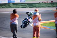 VALENCIA, SPAIN - NOVEMBER 8: Johann Zarco during Valencia MotoGP 2015 at Ricardo Tormo Circuit on November 8, 2015 in Valencia, Spain