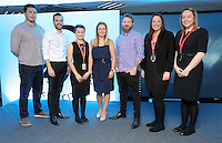 Pictured: Hannah Eames with Commercial team Friday 03 June 2016<br />