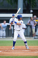 Gabriel Cancel (12) of the Burlington Royals at bat against the Bluefield Blue Jays at Burlington Athletic Stadium on June 27, 2016 in Burlington, North Carolina.  The Royals defeated the Blue Jays 9-4.  (Brian Westerholt/Four Seam Images)