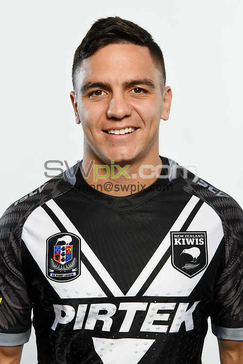 Kodi Nikorima.<br /> Headshots of the New Zealand Kiwis rugby league team, Auckland, New Zealand. 7 October 2018.<br /> Copyright photo: Andrew Cornaga / www.photosport.nz - ©PhotosportNZ/SWpix.com