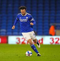 3rd November 2020; Cardiff City Stadium, Cardiff, Glamorgan, Wales; English Football League Championship Football, Cardiff City versus Barnsley; Sean Morrison of Cardiff City looks to pass the ball
