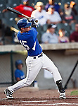Fort Worth Cats Infielder Rob Recuenco (15) in action during the American Association of Independant Professional Baseball game between the Amarillo Sox and the Fort Worth Cats at the historic LaGrave Baseball Field in Fort Worth, Tx. Fort Worth defeats Amarillo 3 to 0......