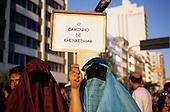 Rio de Janeiro, Brazil. Carnival; 'O caminho de Khenkedhar' - The Road to Who Wants to Give - Arab Muslim costume.