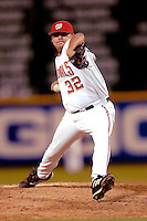 3 September 2005: Hector Carrasco, All-Star closing pitcher for the Washington Nationals, on the mound during a game against the Philadelphia Phillies. The Nationals defeated the Phillies 5-4 at RFK Stadium in Washington, DC. <br />
