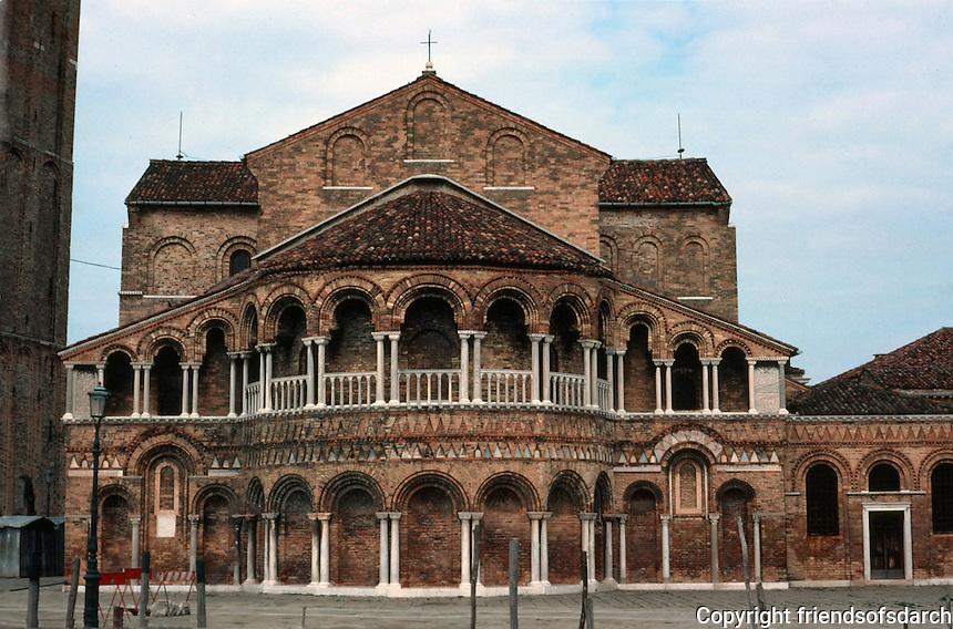 Venice:  Santi Maria e Donato, Murano. Veneto-Byzantine style, late 11th century.  Apse and galleries.  Photo '83.